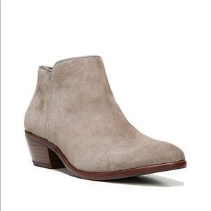 Sam Edelman tab gray ankle zip booties size 8.5